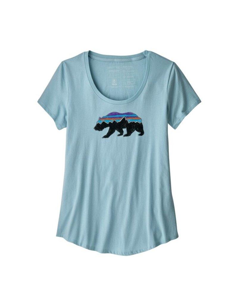 Patagonia W's Fitz Roy Bear Organic Scoop T-Shirt Big Sky Blue