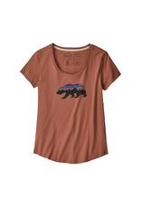 Patagonia W's Fitz Roy Bear Organic Scoop T-Shirt Century Pink