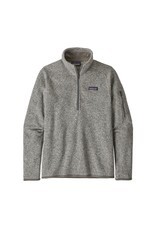 Patagonia Womens Better Sweater 1/4 Zip Birch White