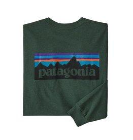 Patagonia M's L/S P-6 Logo Responsibili-Tee Alder Green