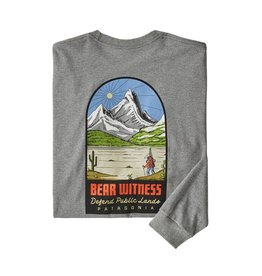 Patagonia M's L/S See & Believe Responsibili-Tee Gravel Heather