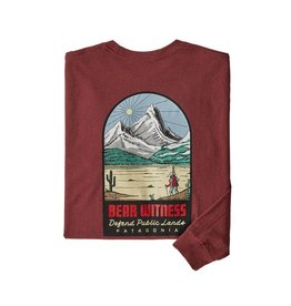 Patagonia M's L/S See & Believe Responsibili-Tee Oxide Red