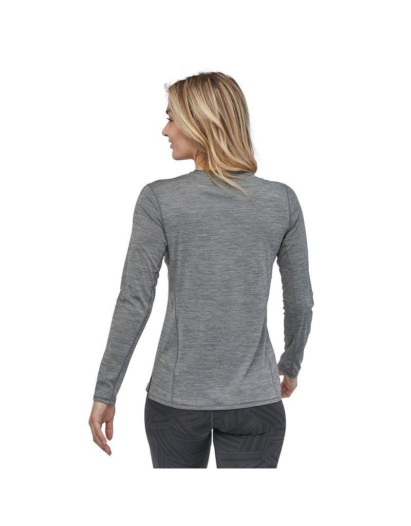 Patagonia Womens L/S Cap Cool Lightweight Shirt Smolder Blue
