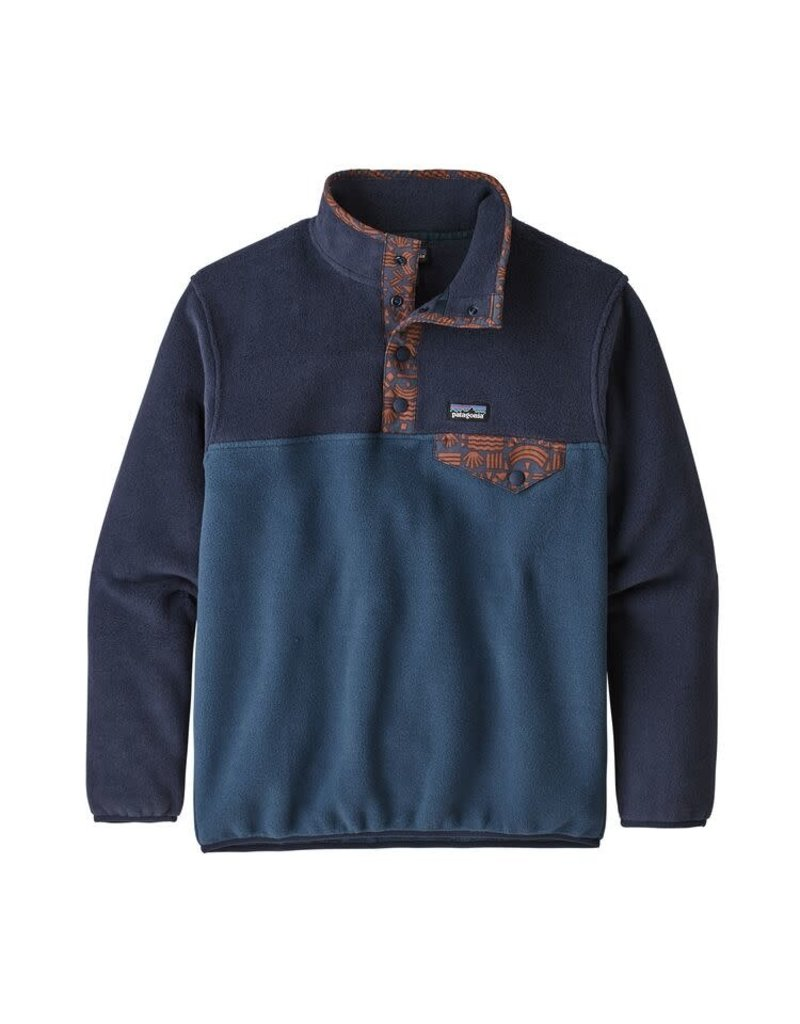 Patagonia Boys LW Synch Snap-T P/O Stone Blue
