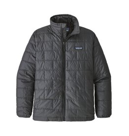 Patagonia Boys Nano Puff Jacket Forge Grey with Ink Black