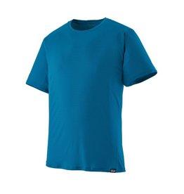 Patagonia Mens Cap Cool Lightweight Shirt Air Stripe: Balkan Blue