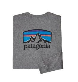 Patagonia M's L/S Fitz Roy Horizons Responsibili-Tee Gravel Heather