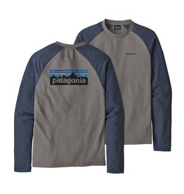 Patagonia M's P-6 Logo LW Crew Sweatshirt Feather Grey w/Dolomite Blue