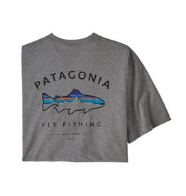 Patagonia M's Framed Fitz Roy Trout Responsibili-Tee Gravel Heather