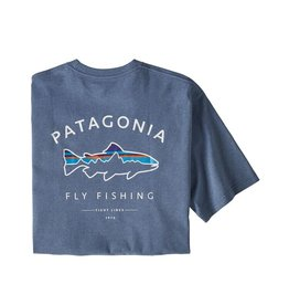 Patagonia M's Framed Fitz Roy Trout Responsibili-Tee Woolly Blue