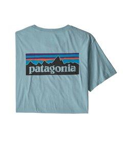 Patagonia M's P-6 Logo Organic T-Shirt Big Sky Blue