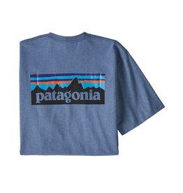 Patagonia M's P-6 Logo Responsibili-Tee Woolly Blue