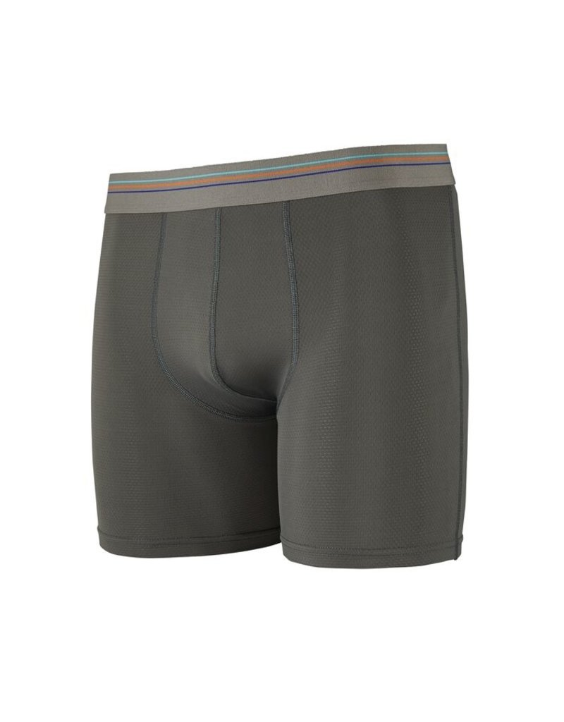 Patagonia Mens Sender Boxer Briefs - 6 in. Forge Grey