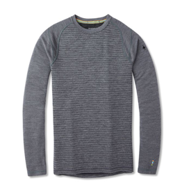 Smartwool Mens Merino 250 Baselayer Pattern Crew MEDIUM GRAY TICK STITCH