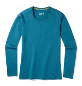 Smartwool Womens Merino 150 Baselayer Long Sleeve LIGHT MARLIN BLUE