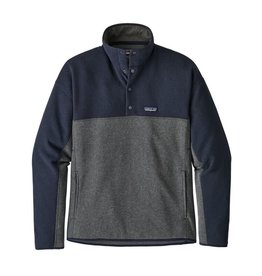 Patagonia Mens LW Better Sweater Marsupial P/O Forge Grey w/ Navy Blue