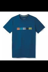 Smartwool Mens Merino Sport 150 Flag Logo Tee ALPINE BLUE