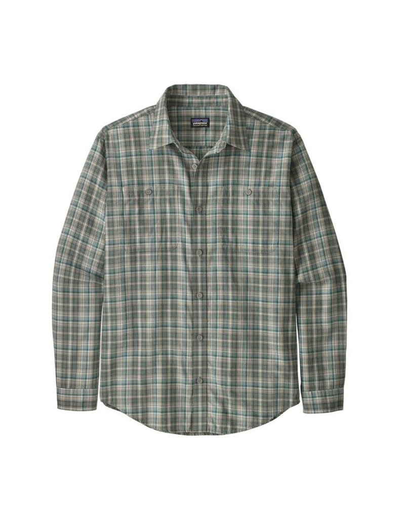 Patagonia Mens L/S Pima Cotton Shirt Palmdale: Feather Grey