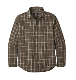 Patagonia Mens L/S Pima Cotton Shirt Ridgeline: Logwood Brown