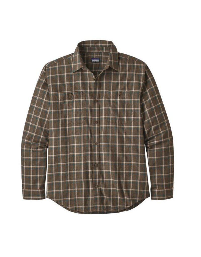 Patagonia Mens L/S Pima Cotton Shirt Ridgeline: Logwood Brown