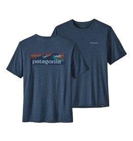 Patagonia Mens Cap Cool Daily Graphic Shirt Boardshort Logo: Stone Blue X-Dye