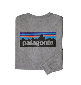 Patagonia M's L/S P-6 Logo Responsibili-Tee Gravel Heather