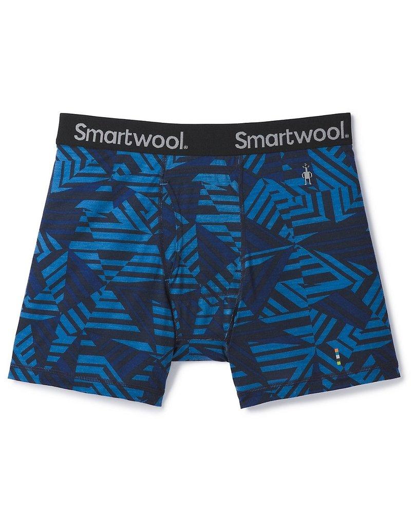 Smartwool Mens Merino 150 Printed Boxer Brief Bright Cobalt