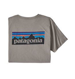 Patagonia M's P-6 Logo Organic T-Shirt Feather Grey