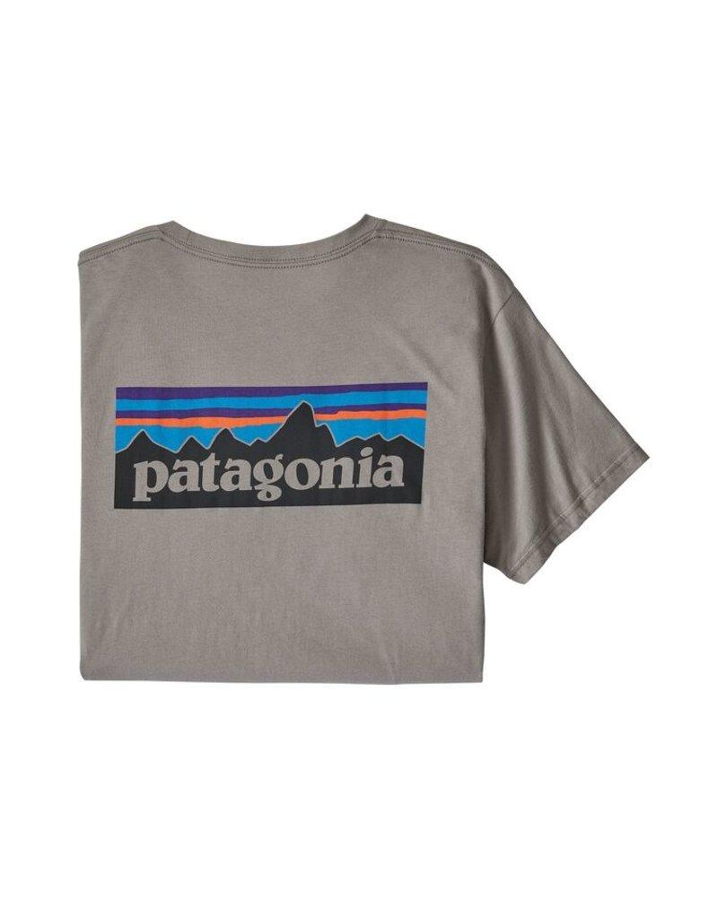 Patagonia M's P-6 Logo Organic T-Shirt Feather Grey