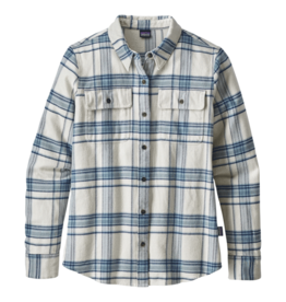 Patagonia W's L/S Fjord Flannel Shirt Activist Big: Birch White