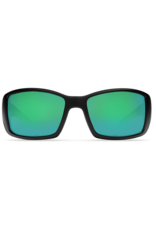 Costa Del Mar Blackfin Matte Black  Green Mirror 580P