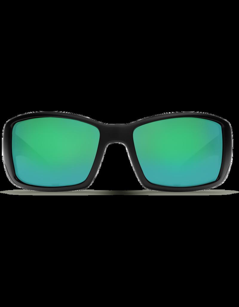 Costa Del Mar Blackfin Matte Black  Green Mirror 580P