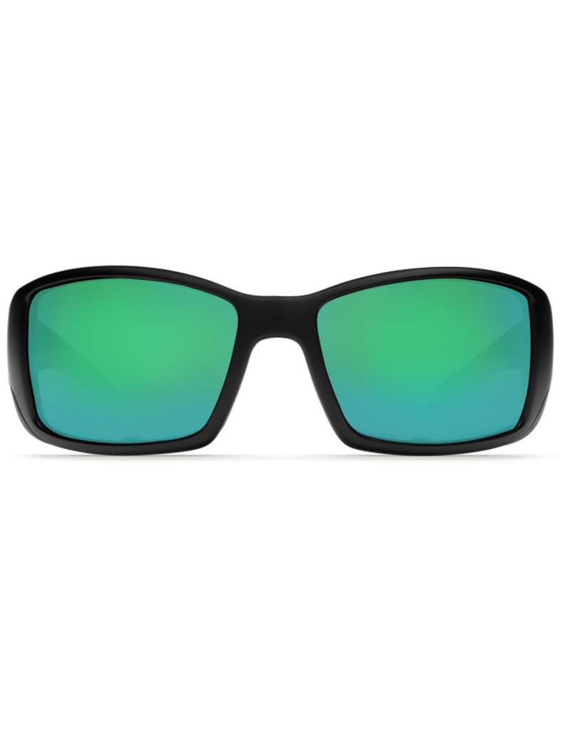 Costa Del Mar Blackfin Matte Black Green Mirror 580G