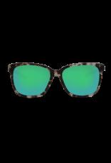 Costa Del Mar May Shiny Tiger Cowrie Green Mirror 580G