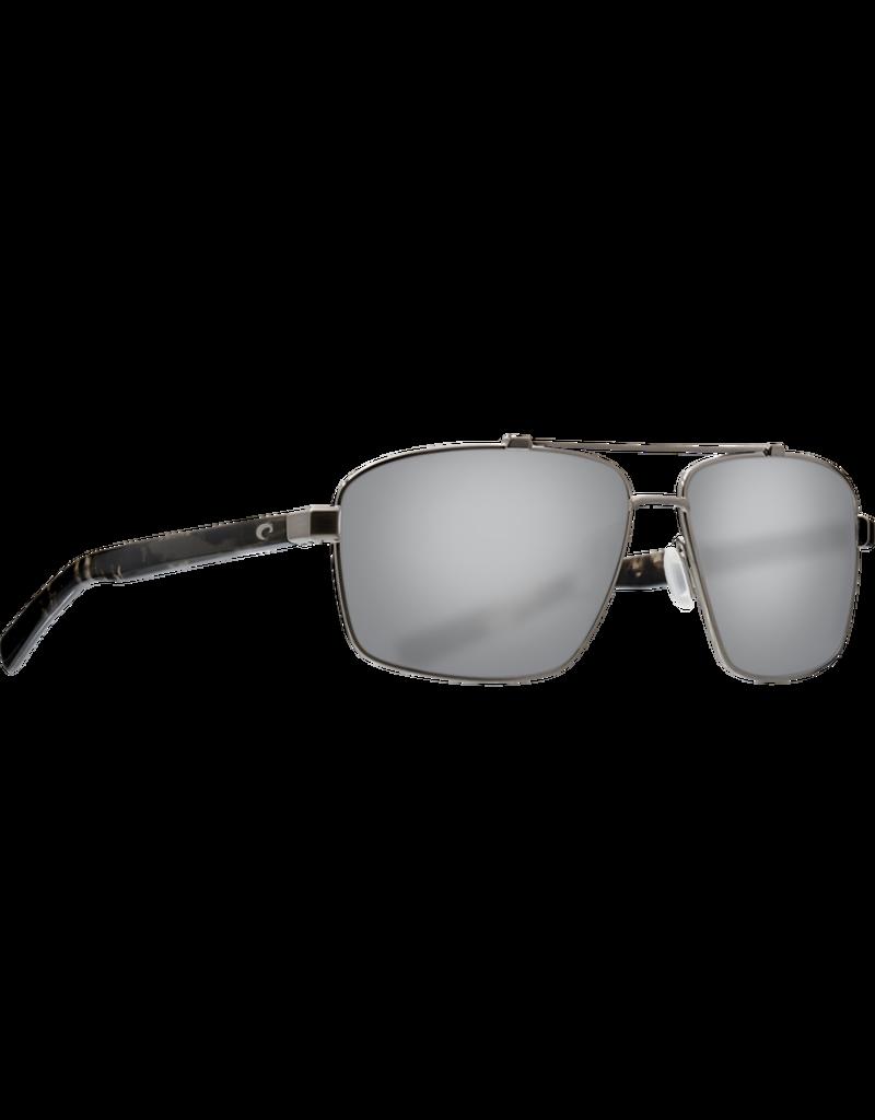 Costa Del Mar Flagler Brushed Gunmetal  Gray Silver Mirror 580P