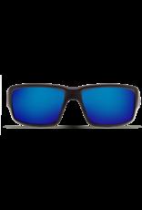 Costa Del Mar Fantail  Matte Black  Blue Mirror 580G