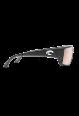 Costa Del Mar Fantail  Matte Black  Copper Silver Mirror 580G