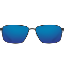 Costa Del Mar Ponce Matte Black  Blue Mirror 580P