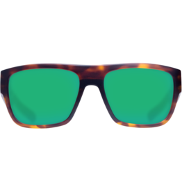 Costa Del Mar Sampan Matte Tortoise Green Mirror 580G