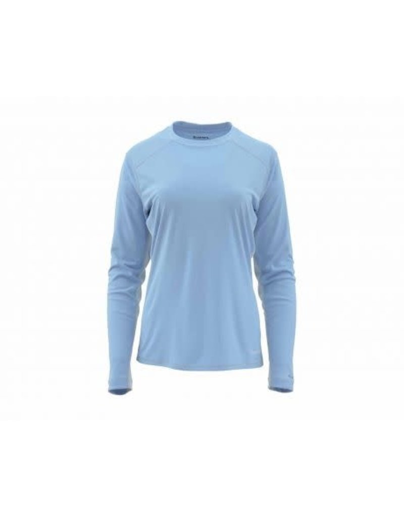Simms W Solarflex LS Crewneck Faded Denim