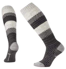 Smartwool Womens Popcorn Cable Knee High WINTER WHITE