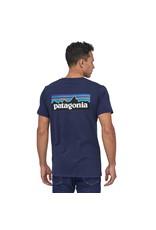 Patagonia Mens P-6 Logo Organic T-Shirt Classic Navy L