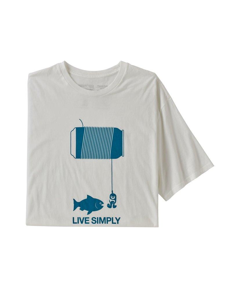 Patagonia Mens Live Simply Happy Hour Organic T-Shirt White