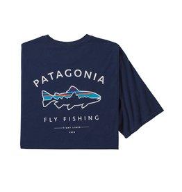 Patagonia Mens Framed Fitz Roy Trout Organic T-Shirt Classic Navy