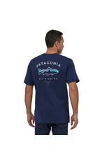 Patagonia Mens Framed Fitz Roy Trout Organic T-Shirt Classic Navy