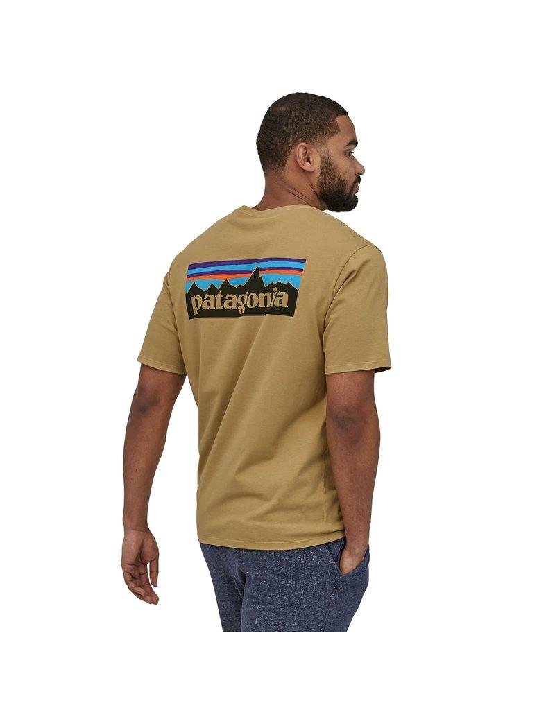 Patagonia Mens P-6 Logo Organic T-Shirt Classic Tan