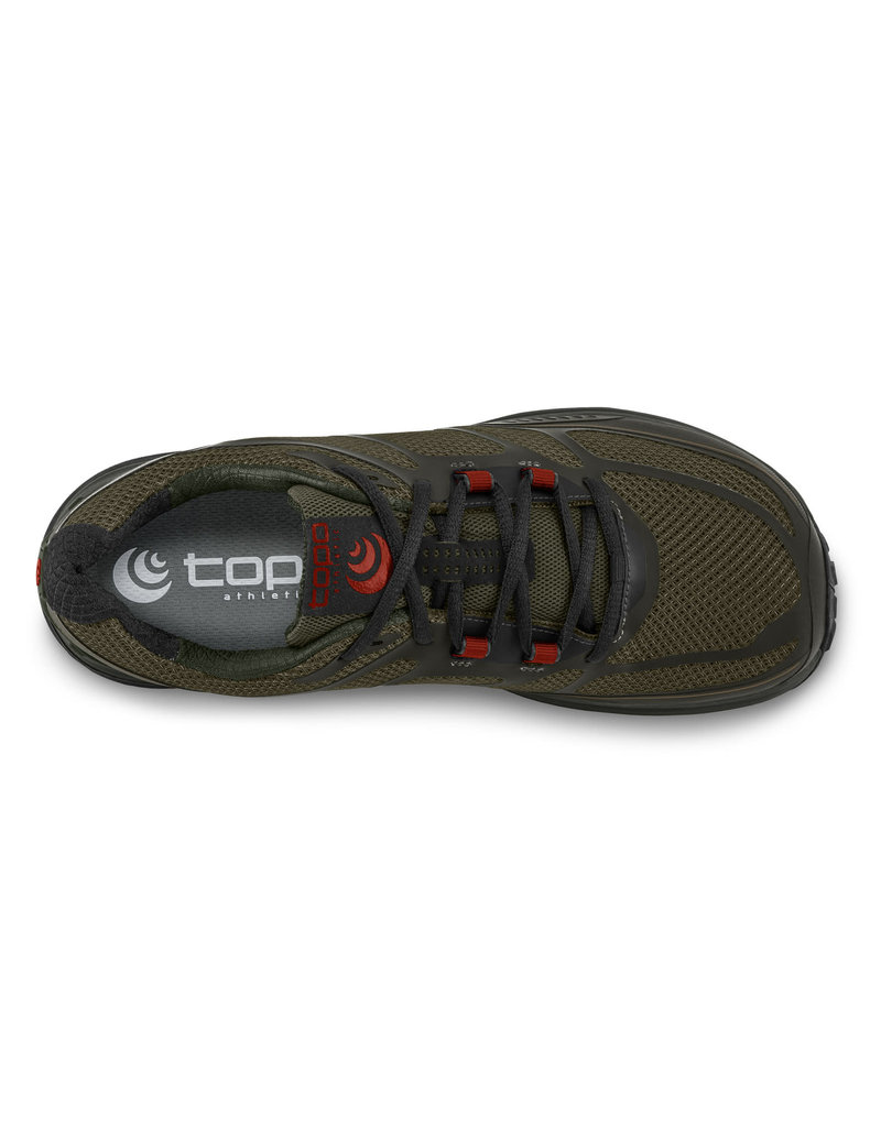 Topo Athletic Mens Terraventure 2 Olive/Red