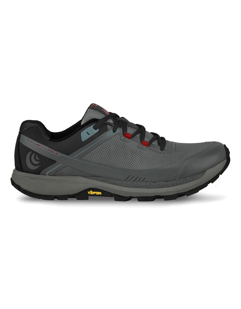 Topo Athletic Mens Runventure 3 Gray/Red