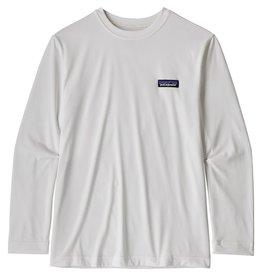 Patagonia Boy's L/S Cap Cool Daily T-Shirt P-6 Label White