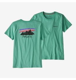 Patagonia Womens Free Hand Fitz Roy Organic Crew T-Shirt